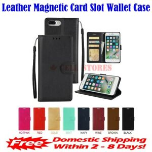 Leather Magnetic Card Slot Wallet Flip Cover Stand Case for Huawei Nova Plus