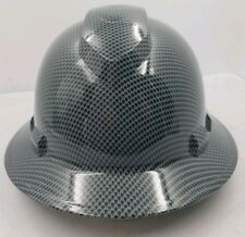 FULL BRIM Hard Hat custom hydro dipped EXPANDED METAL CARBON FIBER SICK NEW