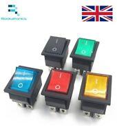 Rettangolare a Scatto Interruttore a Bilanciere 2 Posizioni 4 Dpst Pin Nera Blu