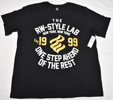 Rocawear T-Shirt Men's 4XB 4X 4XL RW-Style Lab Graphic Tee Black Urban P108