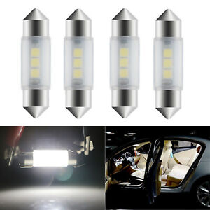 4X 3425 36MM LED Bulb Dome Map Trunk Light 3-SMD Bright Festoon for Audi A3 A4