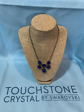 Touchstone Crystal by Swarovski Royal Blue Necklace