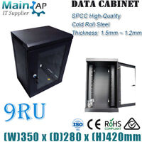 "9RU 9U 10"" 280mm Deep Wall Mount Data Server Cabinet Network Home Office IT Box"