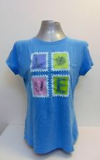 Women Blue T-Shirt  LOVE, Travel, Size M