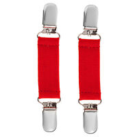 Clips N Grips Toddler Glove And Mitten Clips Elastic With Nickel Clip Red