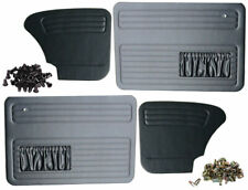 VW Beetle 67-79 Black Door Panel Set With Clips And Bungs To Fit