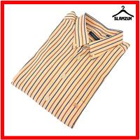 Burberry London Mens Regular Fit Shirt XXL 2XL Cotton Striped Poplin Long Casual