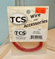 TCS #1197 Red 10 feet of 30 Gauge Wire for DCC NEW
