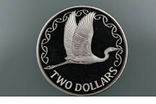 New Zealand - 1990 - Silver Proof $2 Coin  - WHITE HERON