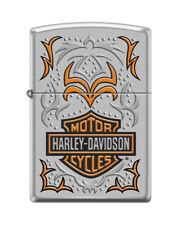 Zippo 7169, Harley Davidson Motorcycles-Logo, Satin Chrome Lighter