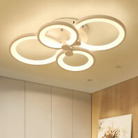 110v Modern Circle Ceiling Light Lamp Acrylic Indoor LED Chandelier Lamp Fixture