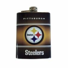 Pittsburgh Steelers Hip Flask Stainless Steel 8oz Football Liquor Whiskey Vodka