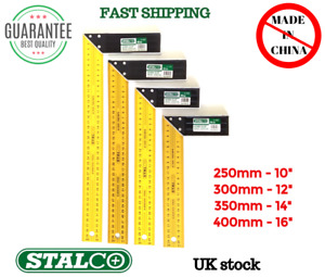 ALL SIZES Woodworking Carpenter Wood Try Square Measure Hardened Steel STALCO