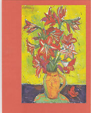 "Paquebot ""FRANCE"" Luncheon Menu , 1960s ; Flowers #2"