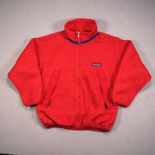 Vintage Kids Patagonia Fleece Jumper Top Red Age 8