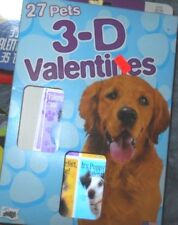 Boxed cat and dog-themed 3D Valentine Cards. Box of 27 with 6 different designs