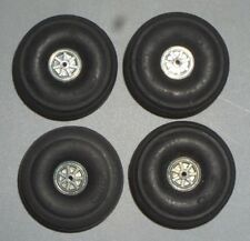 "(4)Perfect Parts Model Airplane Rubber Balloon Tires #64 Wheels 1-1/2"" Japan"