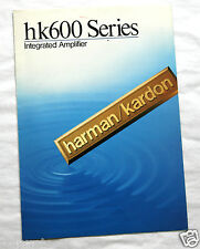 Publicité Pub Ampli Hifi Intégrated Amplifier HK600 séries  Harman Kardon