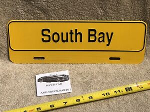 NEW SOUTH BAY UNIVERSAL LICENSE PLATE TOPPER .