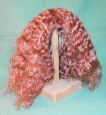 "Peluca de muñeca/cabello humano 11.5 a 12.5"" Rojo, Hombro Longitud/perm"