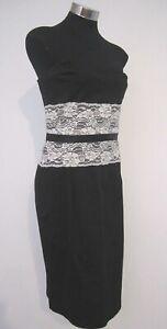 Portmans Black Laced Sleeveless Dress Size 12 M