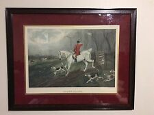 Fox Hunting Print From T.N.H Walsh 'Drawn Blank' Engraved By  E. G. Hester