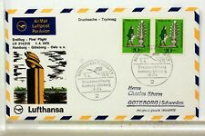 LUFTHANSA  FIRST FLIGHT 1° VOL 1970 GOTEBORG HAMBOURG   COVER F27