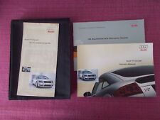 AUDI TT COUPE (1999 - 2006) OWNERS MANUAL - OWNERS GUIDE - HANDBOOK. (ACQ 5735)