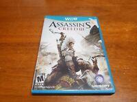 Assassin's Creed III (Nintendo Wii U, 2012) CIB Complete TESTED WiiU