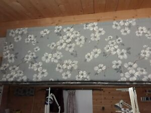 Roman Blind, Laura Ashley Iona Slate grey Floral  Fabric  (Made to measure)