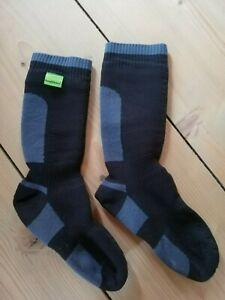 SEALSKINZ Socken, Gr. L (43-46) wasserdicht, schwarz/grau, TOP!