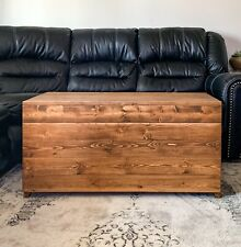Rustic Wooden Storage Chest Trunk With Lid Custom Colors