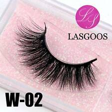 W-02 Full Strip 3D Messy Mink Natural Short False Eyelashes Eye Extension Lashes
