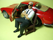 ENZO  FERRARI  1/18  UNPAINTED  FIGURE   MADE  BY  VROOM   FOR   CMC  AUTOART