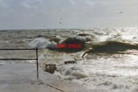 PHOTO  SUSSEX 1994 SEAFORD STORMY WEATHER VIEW FROM GROYNE AT WEST END OF ESPLAN