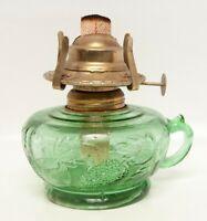 Antique Green Glass Finger Oil Lamp Chamber Lantern Kerosene Lantern Hong Kong