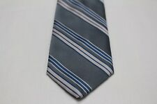 ETIENNE aigne - gris con Azul & Rosa a rayas - 44.5cm con clip corbata
