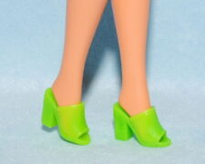COMFY! Lime Green Open Toe Slip On High Heels Genuine BARBIE Shoes