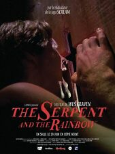 Affiche 120x160cm THE SERPENT AND THE RAINBOW (1988) Wes Craven R2016 TBE