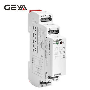 GEYA Memory Relay Latching Relay Impulse Relay Electronic 16A 12V-240V Din Rail