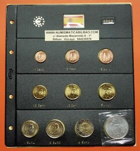 2009 ESPAÑA 8 MONEDAS EURO SC + HOJA DE PARDO + 2 EUROS 2009 EMU + 12€ PLATA