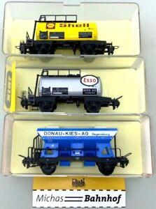 3x Trix Express Güterwagen 3429 3427 3421 im Originalkarton H0 1:87 å