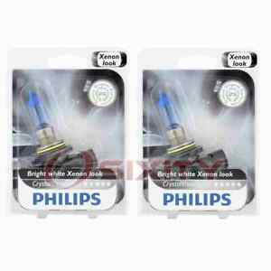 2 pc Philips Low Beam Headlight Bulbs for Saturn L100 L200 L300 LS LS1 LS2 in