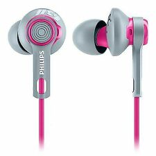 Philips ActionFit Headphone Shq2300pk/27 Tangle- Cord Water Resistant Pink