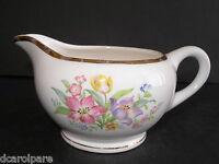 WS George Derwood Yellow Tulip Pink Floral Gold Trim Creamer Cream Pitcher 1930