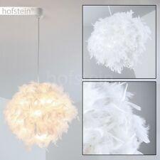 Lampe à suspension Design Plafonnier Lustre Lampe pendante blanche Tissu 158910