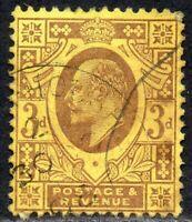 1902 Sg 233 M20/3 3d dull reddish purple on lemon back Fine Used