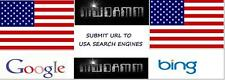 SUBMIT URL TO 50 USA SEARCH ENGINES MANUAL SUBMIT TO BING & GOOGLE $2.99 OBO