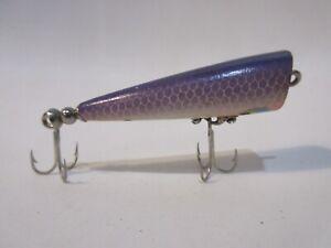 Vintage Smithwick Wood Chug Purple Shiner TOUGH COLOR