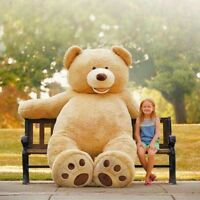 200/340cm Kids Teddy Bear Stuffed Plush Toys Gifts Giant Skin (without Cotton)